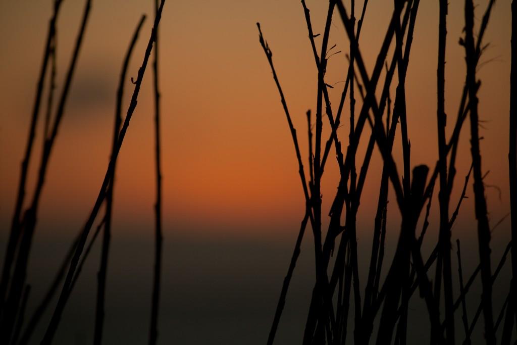ein anderer Blickwinkel auf den Sonnenuntergang